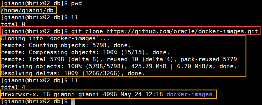 Docker OBIEE12c from scratch: clone database images from GIT
