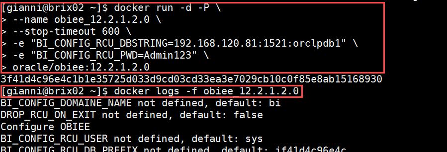 Docker OBIEE12c from scratch: start OBIEE container