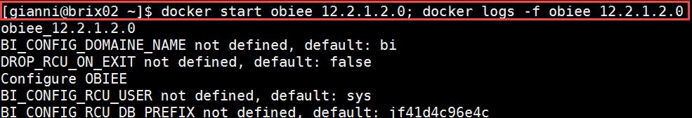 Docker OBIEE12c from scratch: restart OBIEE and check logs