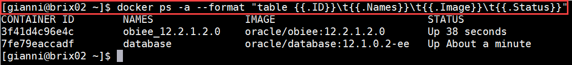 Docker OBIEE12c from scratch: check status of containers, all UP again
