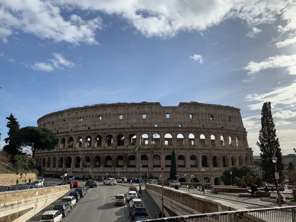 Colosseum in Rome, we had a tour while at ITOUG 2019