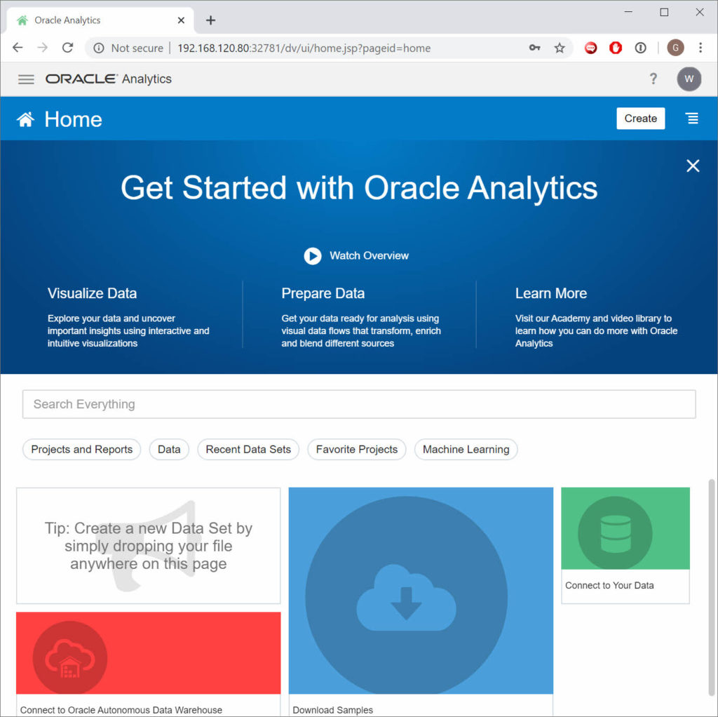 Oracle Analytics Server is available